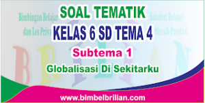Soal Tematik Kelas 6 SD Tema 4 Subtema 1 Globalisasi di Sekitarku dan Kunci Jawaban
