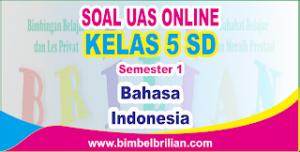 Soal UAS Bahasa Indonesia Online Kelas 5 SD Semester 1 ( Ganjil ) - Langsung Ada Nilainya