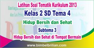 Soal Tema 4 Kelas 2 Subtema 3 Hidup Bersih dan Sehat di Tempat Bermain - Thumnail