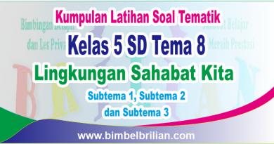 Kumpulan Soal Tematik Kelas 5 SD Tema 8 dan Kunci Jawaban - www.bimbelbrilian