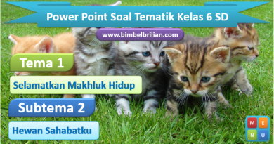 Power Point (PPT) Soal Tema 1 Kelas 6 SD Subtema 2