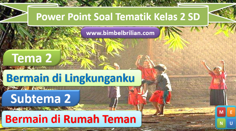 Media Power Point Tema 2 Kelas 2 SD Subtema 2