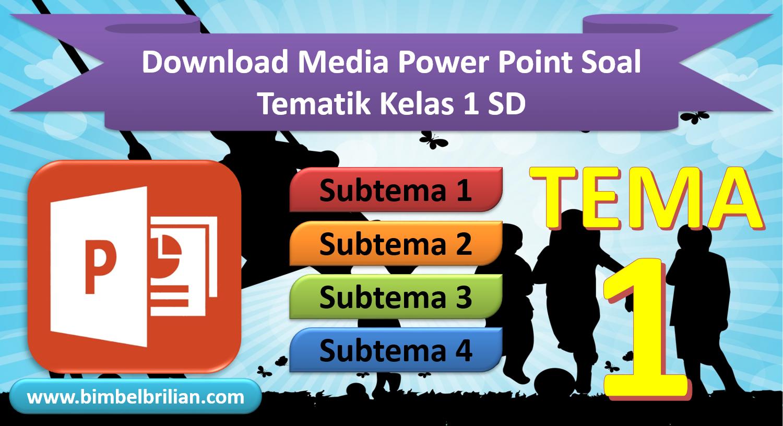 Media Power Point Ppt Soal Kelas 1 Sd Tema 1 Diriku Bimbel Brilian