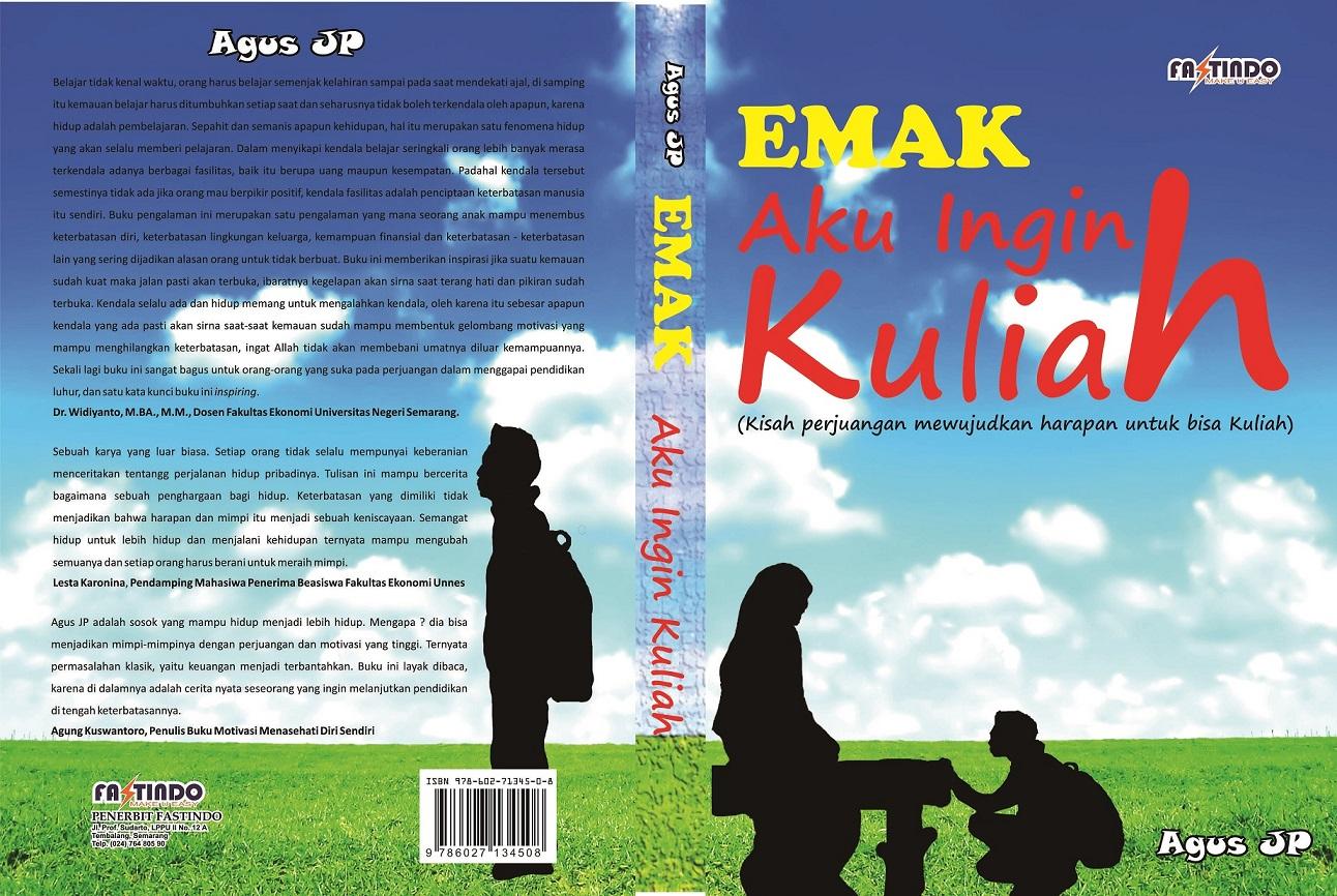 Cover Novel Emak Aku Ingin Kuliah