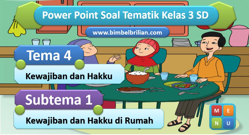 Media PPT Kelas 3 SD Tema 4 Subtema 1 Kewajiban dan Hakku di Rumah