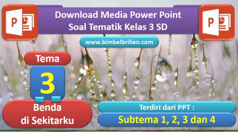 Media PPT Tema 3 Benda di Sekitarku Kelas 3 SD