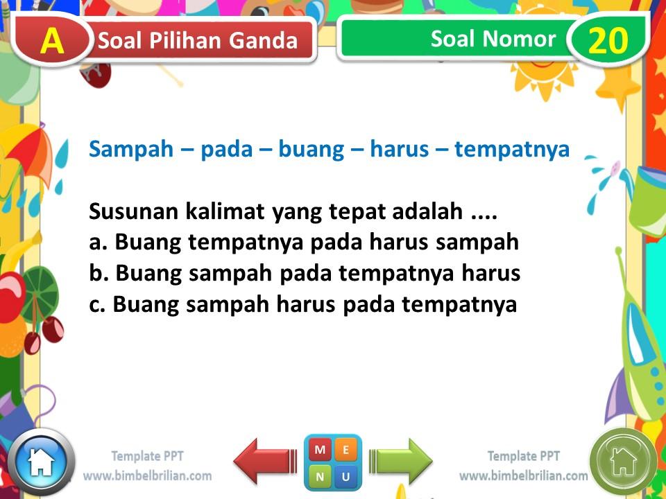 Media PPT Kelas 1 SD Tema 6 Subtema 1 Lingkungan Rumahku