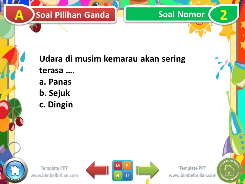Power Point (PPT) Soal Tema 8 Kelas 1 SD Subtema 2 Kemarau