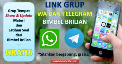 GRUP WHATSAPP DAN GRUP TELEGRAM Bimbel Brilian