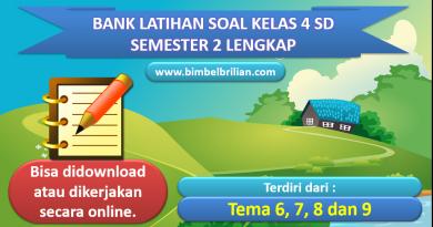 Bank Soal Kelas 4 SD Semester 2