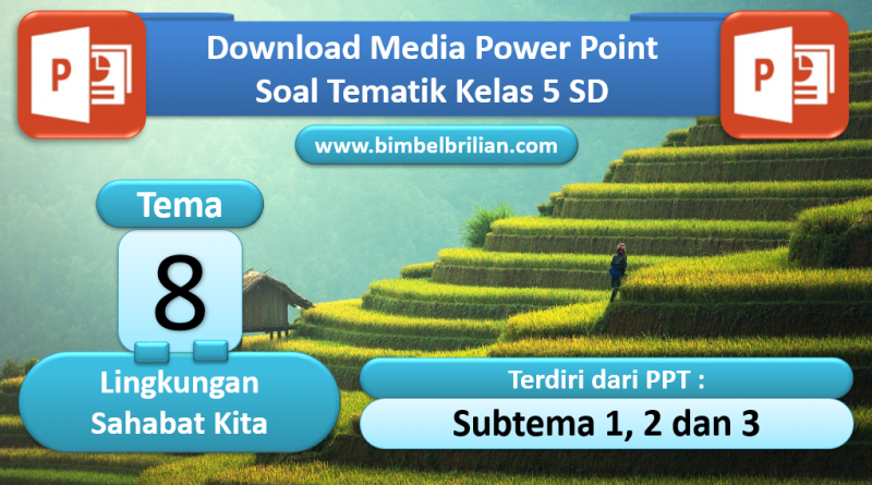 Media Power Point PPT Soal Kelas 5 SD Tema 8 Lingkungan Sahabat Kita