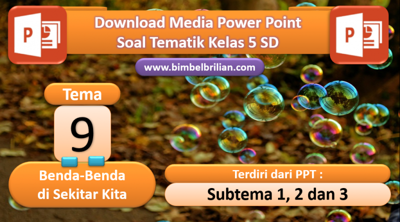 Media Power Point PPT Soal Kelas 5 SD Tema 9 Benda-Benda di Sekitarku