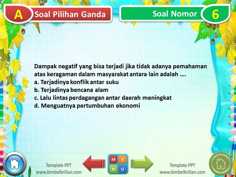 PPT - Soal Tematik Kelas 4 SD Tema 7 Subtema 3 Indahnya Persatuan dan Kesatuan Negeriku - www.bimbelbrilian.com (2)