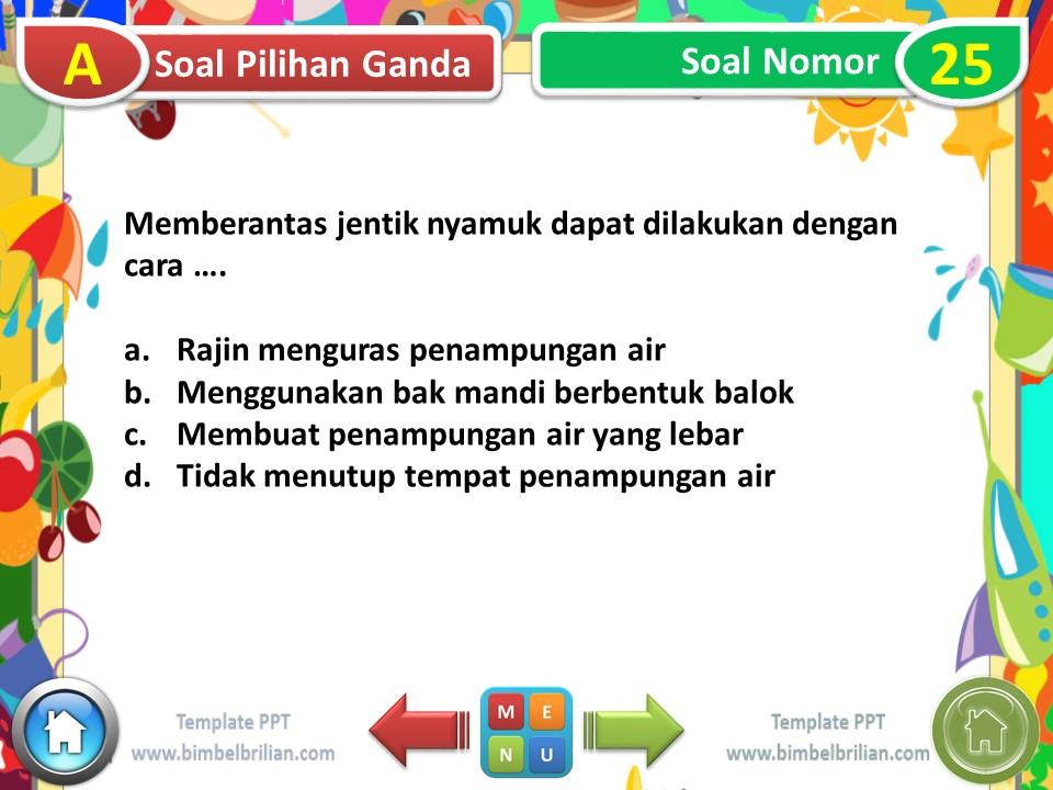 PPT - Soal Tematik Kelas 6 SD Tema 6 Subtema 1 Masyarakat Sehat, Negara Kuat - www.bimbelbrilian.com
