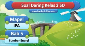 Soal IPA Daring Kelas 2 SD Bab 5 Sumber Energi
