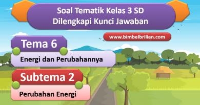 Soal Tema 6 Kelas 3 SD Subtema 2 Perubahan Energi dan Kunci Jawaban online