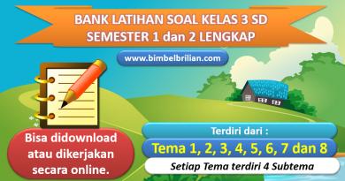 Bank Soal Kelas 3 SD Kurikulum 2013 lengkap