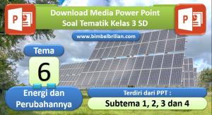Media PPT Soal Kelas 3 SD Tema 6 Energi dan Perubahannya