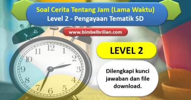 Soal Cerita Tentang Jam Lama Waktu Level 2 Pengayaan Tematik SD