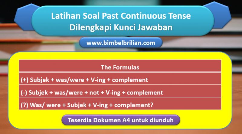 25 Soal Past Continuous Tense dan Kunci Jawaban