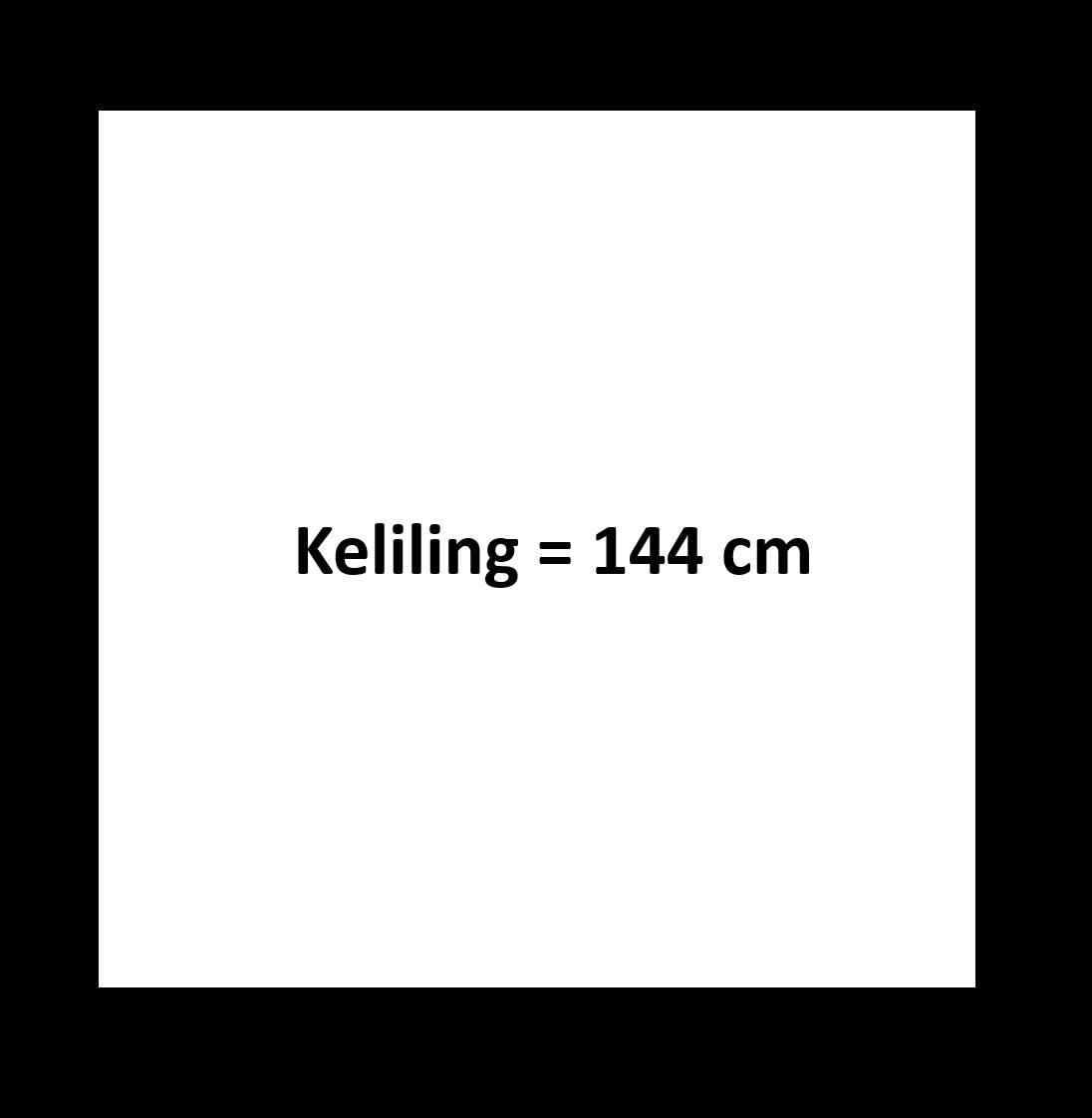Gambar keliling persegi 144 cm