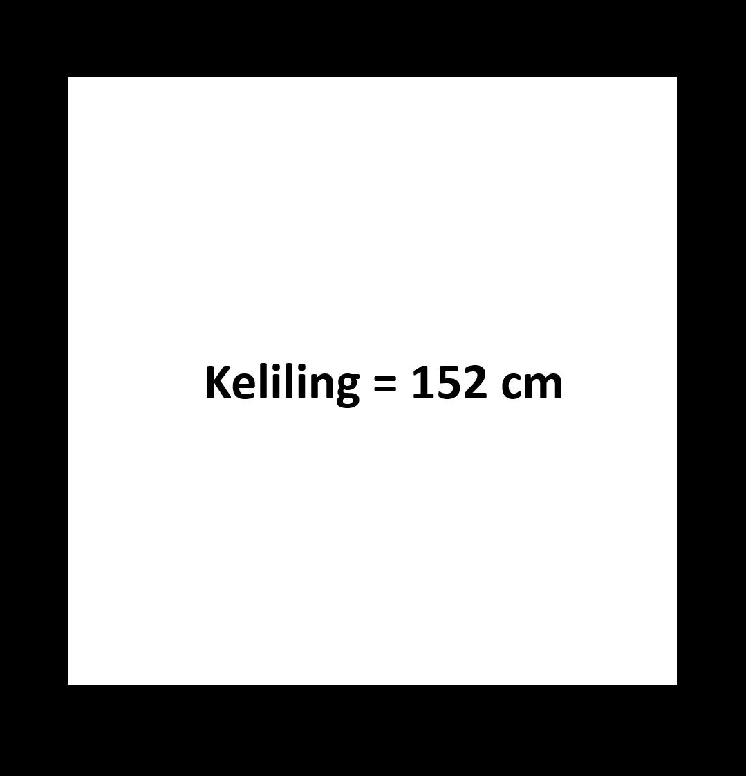 Gambar keliling persegi 152 cm