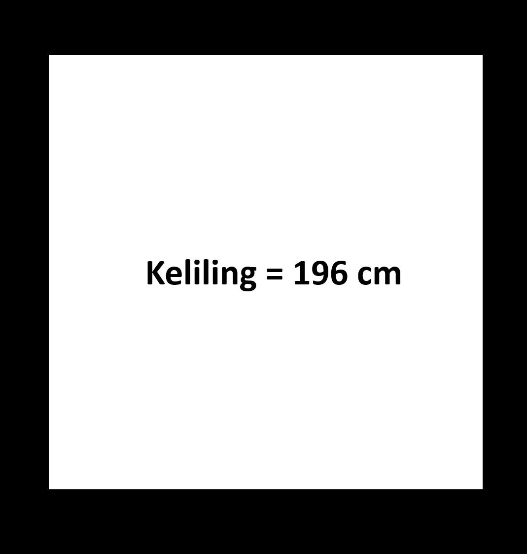 Gambar keliling persegi 196 cm