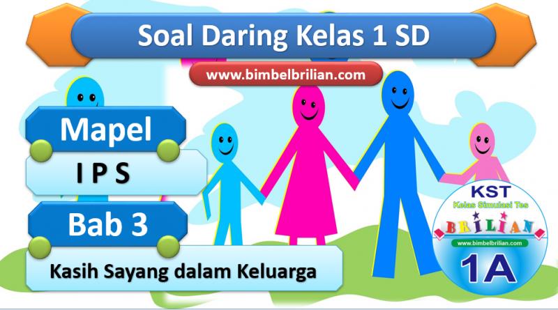 Soal Daring IPS Kelas 1 SD Bab 3 Kasih Sayang dalam Keluarga