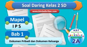 Soal Daring IPS Kelas 2 SD Bab 1 Dokumen Pribadi dan Dokumen Keluarga