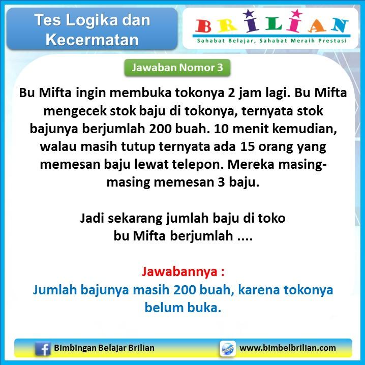 Tes Logika 01 - Nomor 4 Jawaban