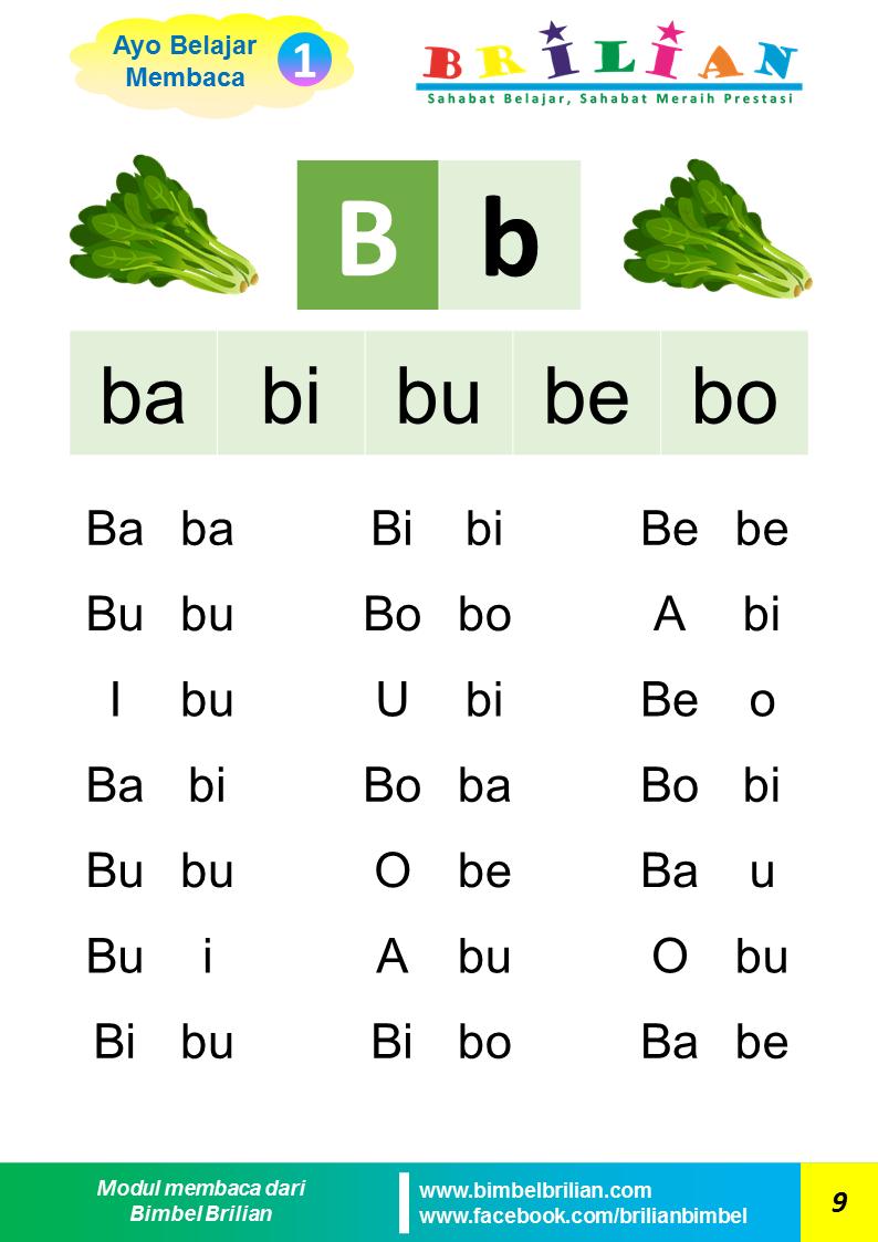 Belajar Membaca Huruf B