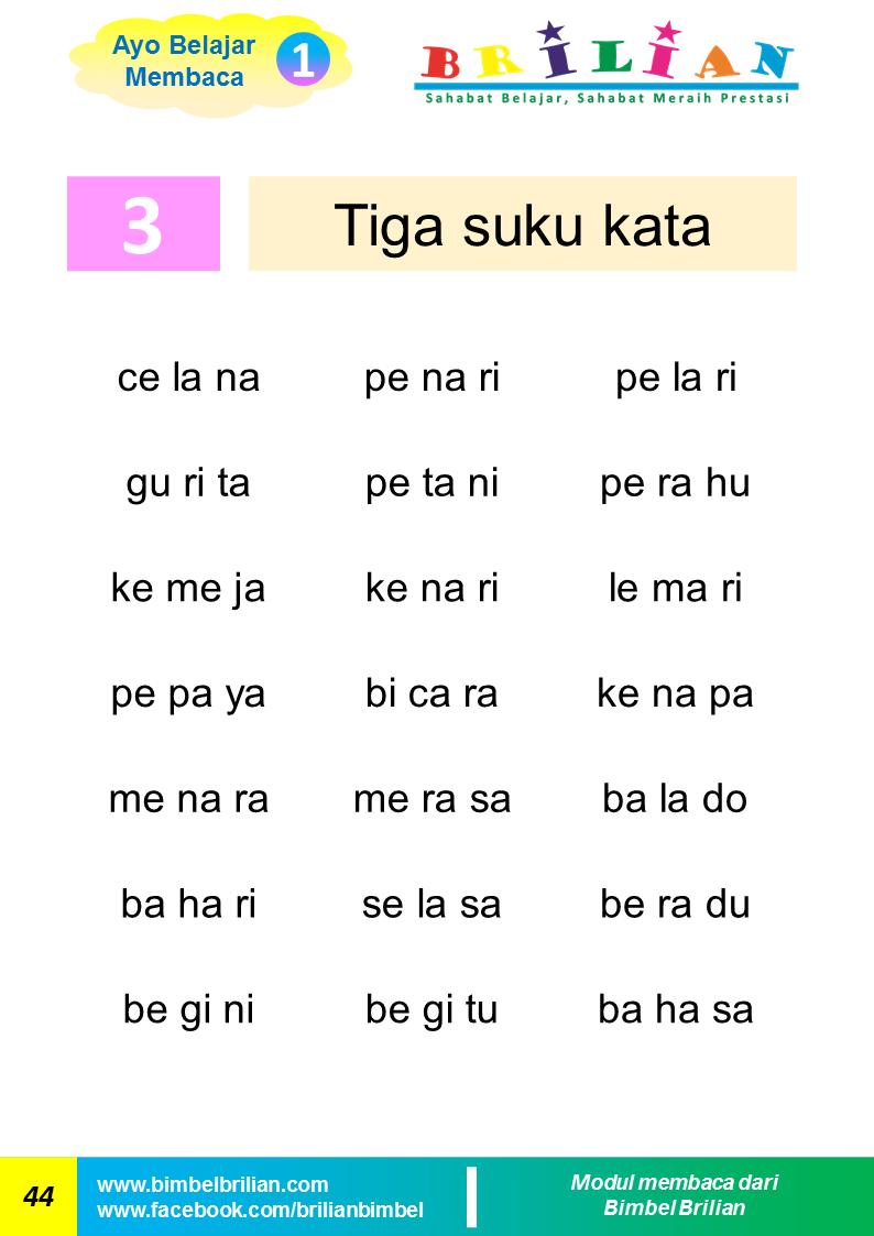 Belajar Membaca Kata