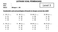 Soal Pembagian Kelas SD 3