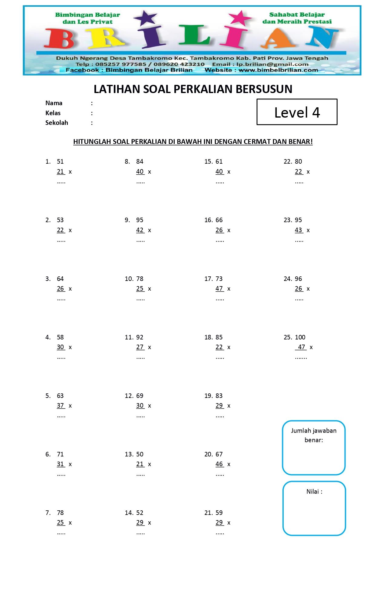Soal Perkalian Bersusun Level 4 - www.bimbelbrilian.com _page-0001